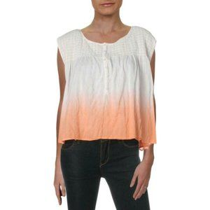 NWT Free People Peach Ombre Sleeveless Blouse